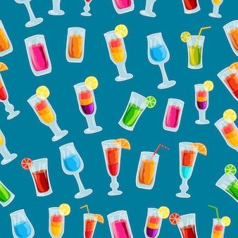 Kolorowy koktajl napój szablon koncepcja wzór