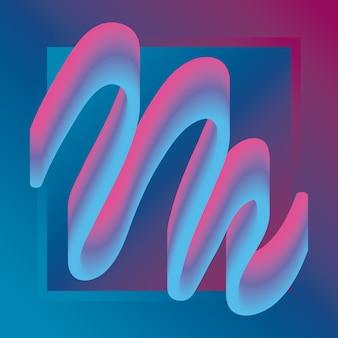 Kolorowy kształt zygzakowatego kształtu w neonowych kolorach