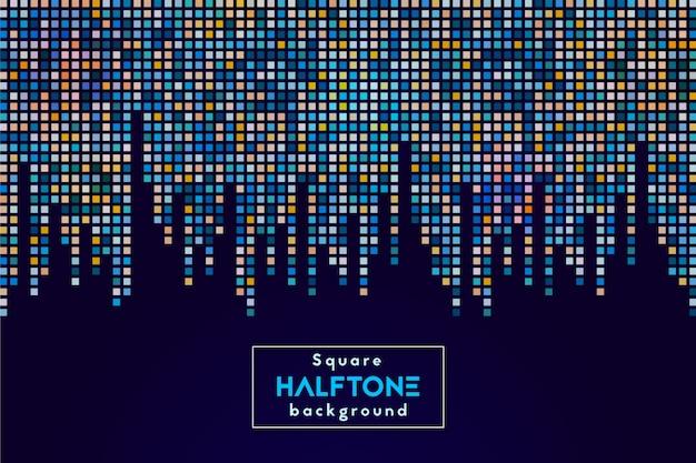 Kolorowy kwadratowy halftone abstrakta tło