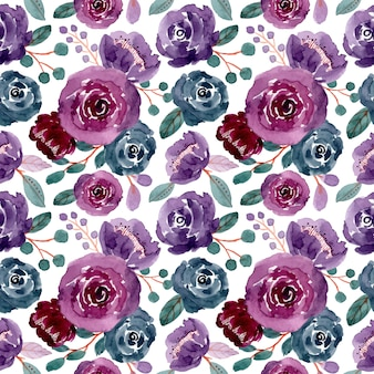 Kolorowy kwiatowy akwarela bezszwowe wzór
