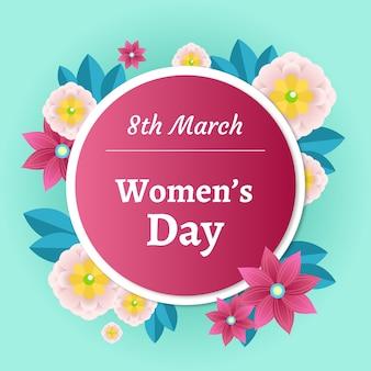 Kolorowy kwiatowy dzień kobiet