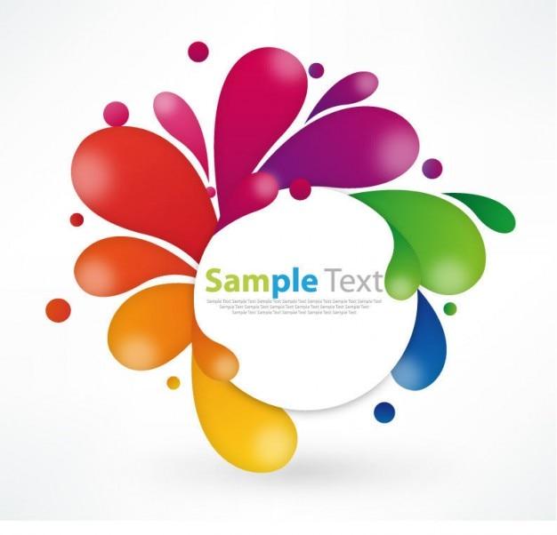 Kolorowy kwiatowy ilustracja grafika projektowanie