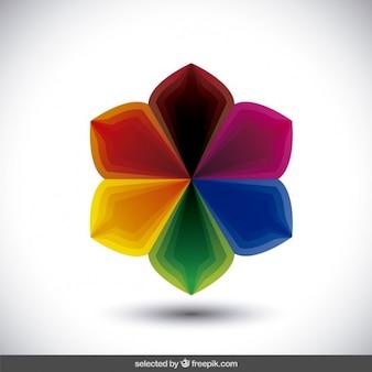 Kolorowy kwiatowy logo