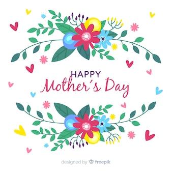 Kolorowy kwiatowy tło dzień matki