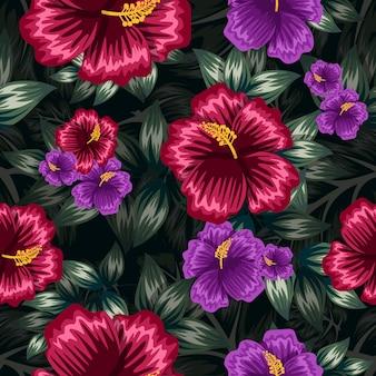 Kolorowy kwiatowy wzór bez szwu