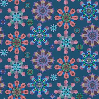 Kolorowy kwiatowy wzór bezszwowe tło w płaskiej konstrukcji