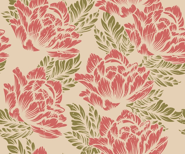 Kolorowy kwiatowy wzór na jasnym tle. idealny do druku na tkaninie.