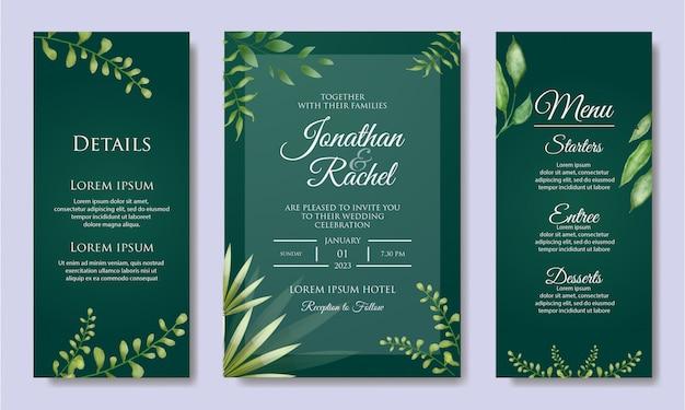 Kolorowy kwiatowy zaproszenia ślubne szablon