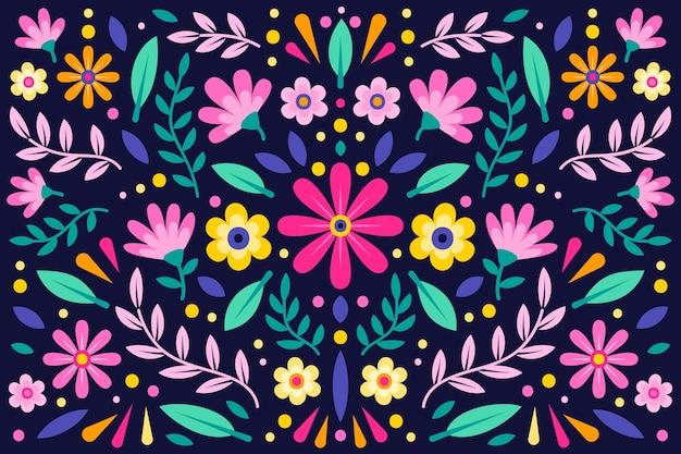Kolorowy kwiecisty meksykański tło