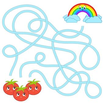 Kolorowy labirynt dla dzieci