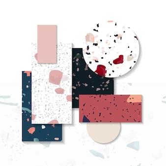 Kolorowy lastryko bezszwowy wzór oznacza wektor zestaw
