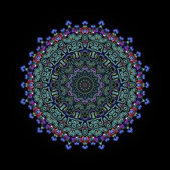Kolorowy luksusowy mandali wektorowy projekt