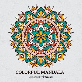 Kolorowy mandali tło