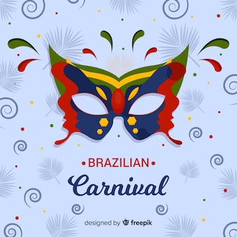 Kolorowy maskowy brazylijski karnawałowy tło