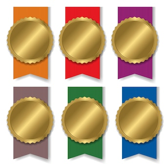 Kolorowy medal setblank