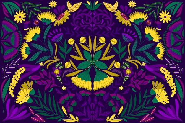 Kolorowy meksykański motyw na tle