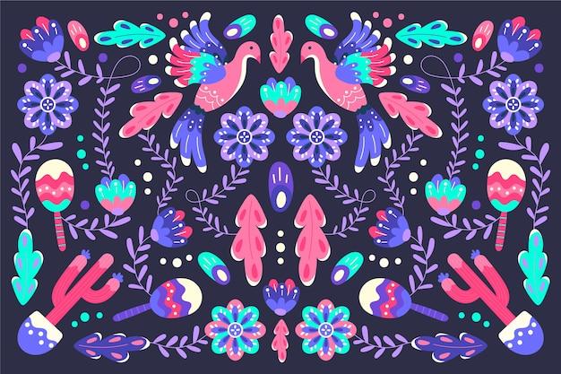 Kolorowy meksykański tło motyw