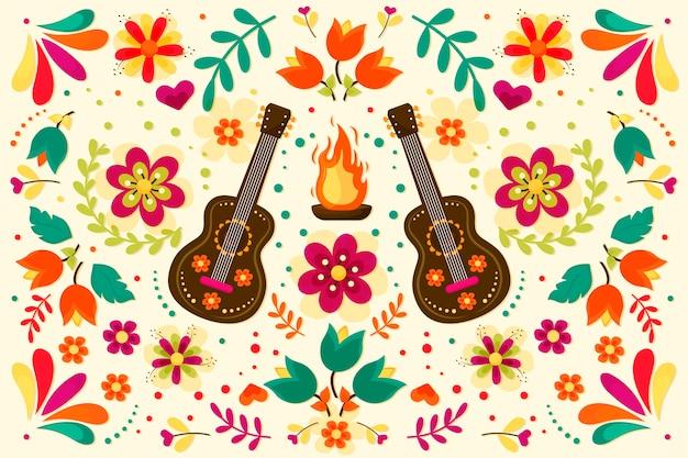 Kolorowy meksykański tło ornament