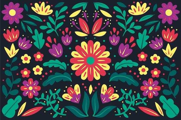 Kolorowy meksykański tło płaski projekt