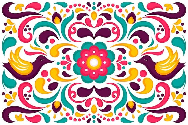 Kolorowy meksykański tło projekt