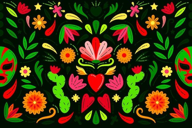 Kolorowy meksykański tło styl