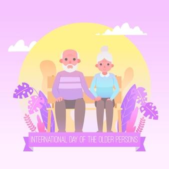 Kolorowy międzynarodowy dzień osób starszych