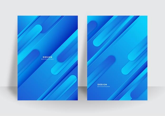 Kolorowy modny streszczenie 3d geometryczne niebieskie tło dla szablonu projektu okładki broszury. żywe tło wzór kontrastu z abstrakcyjnymi kształtami i kolorami. nowoczesny wzór wektorowy