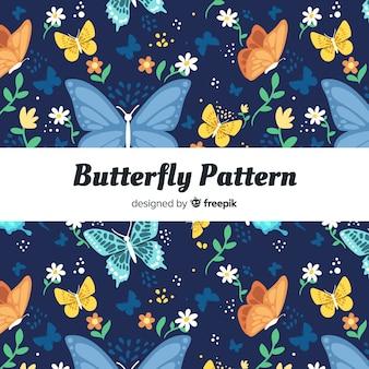 Kolorowy motyli tło