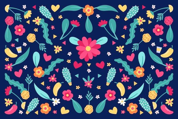 Kolorowy motyw tapety meksykańskiej