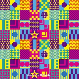 Kolorowy mozaiki tło z geometrycznymi kształtami