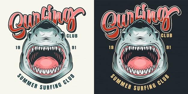Kolorowy nadruk klubu surfingowego