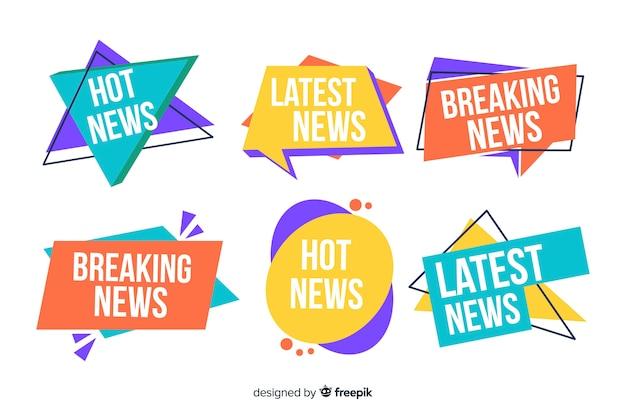 Kolorowy najnowszy pakiet bannerów informacyjnych