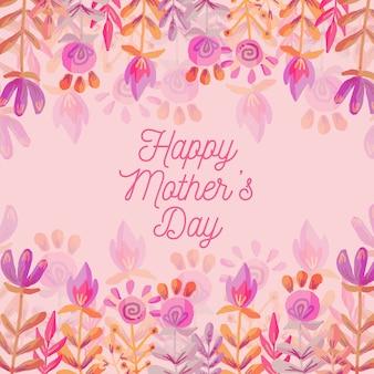 Kolorowy napis akwarela dzień matki