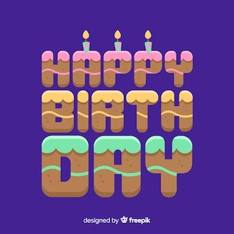 Kolorowy napis z okazji urodzin