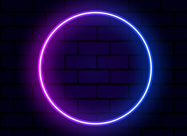 Kolorowy neon wektor pierścień