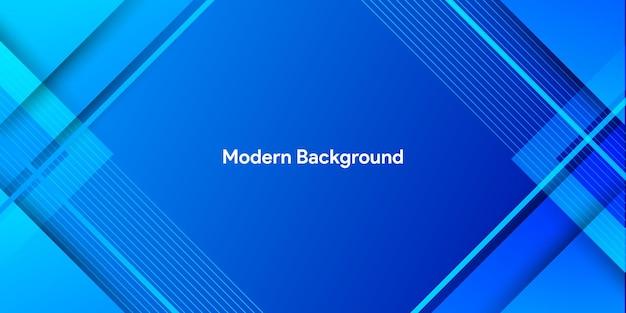 Kolorowy niebieski gradient z abstrakcyjnymi kształtami w tle