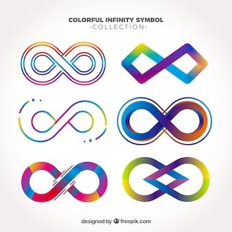 Kolorowy nieskończony zbiór symboli
