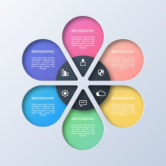 Kolorowy nowoczesny biznes plansza szablon