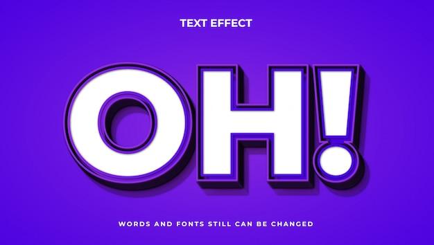 Kolorowy nowoczesny edytowalny tekst z efektem świetlnym. elegancki styl tekstu