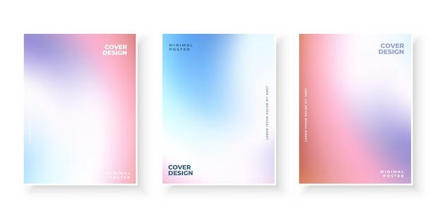 Kolorowy nowoczesny gradient obejmuje zestaw szablonów
