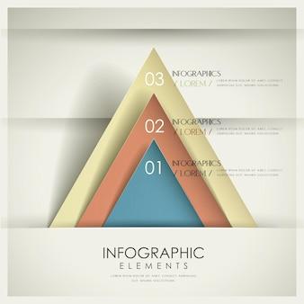 Kolorowy nowoczesny szablon infografiki z elementami trójkąta