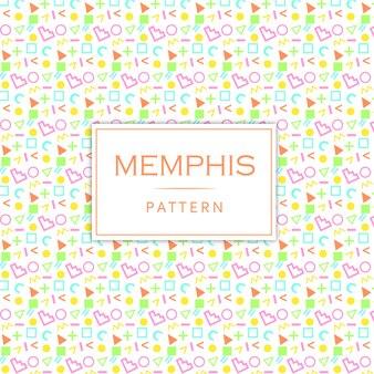 Kolorowy nowożytny memphis deseniowy tło