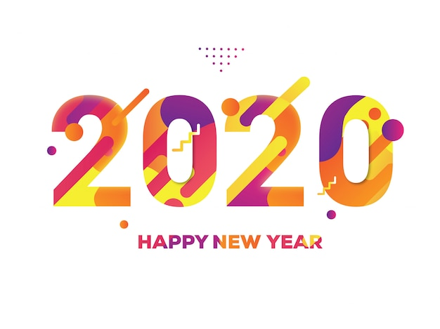 Kolorowy nowy rok 2020