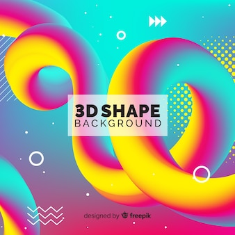 Kolorowy płynny kształt 3d tło
