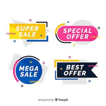 Kolorowy pakiet sprzedaż memphis banner