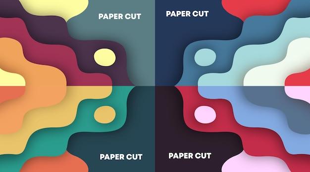 Kolorowy papier wyciąć tło wektor ilustracja