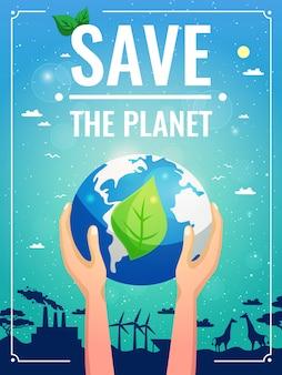 Kolorowy plakat ekologii