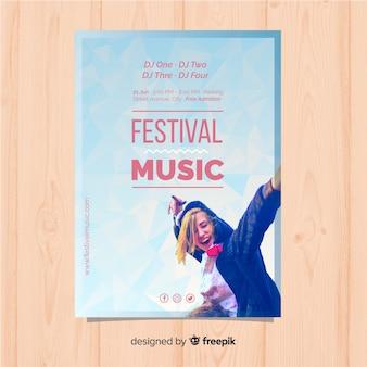 Kolorowy plakat festiwalu muzyki gradientu