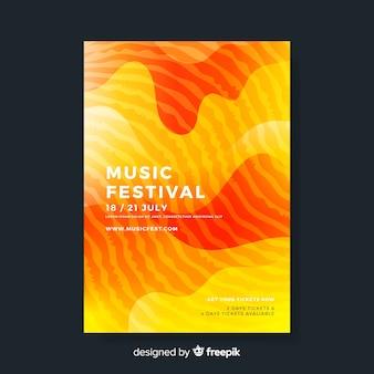 Kolorowy plakat festiwalu streszczenie szablon muzyki
