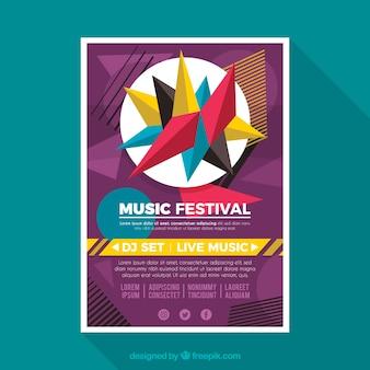 Kolorowy plakat muzyczny szablon